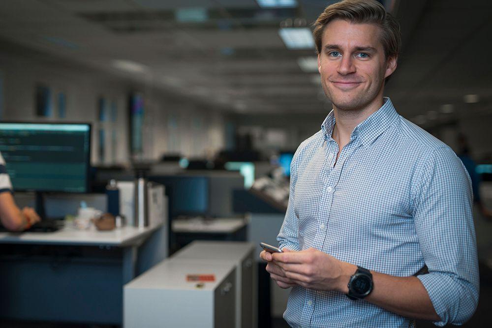 Kristian K. Fredheim i Telia. Bilde: Telia
