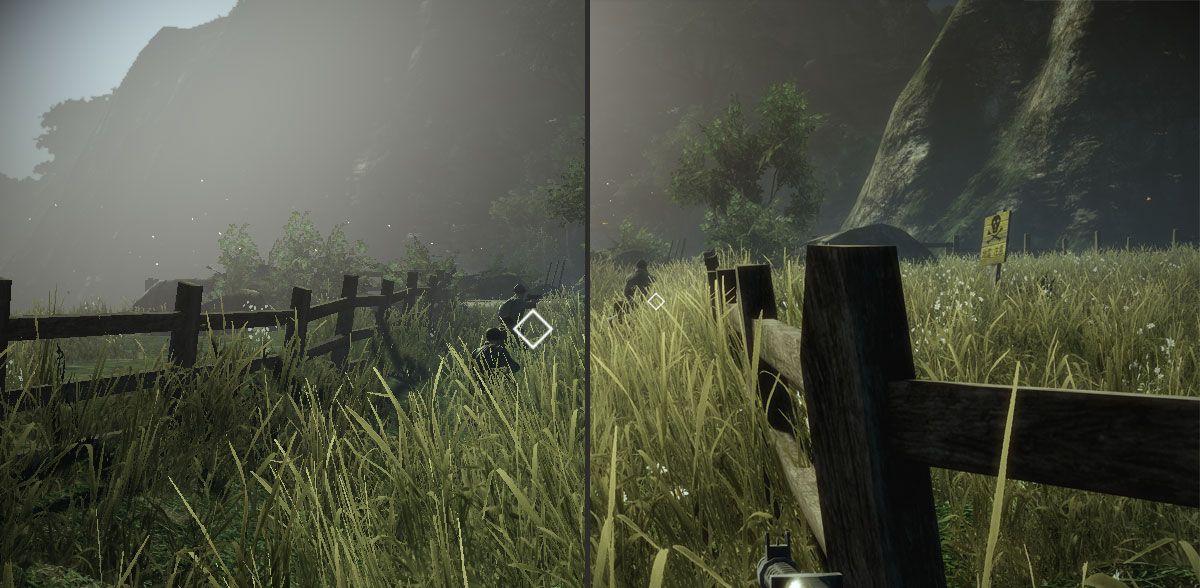 Klikk for større versjon. Alle innstillinger satt til laveste verdi på venstre bilde, alt på høyeste til høyre.