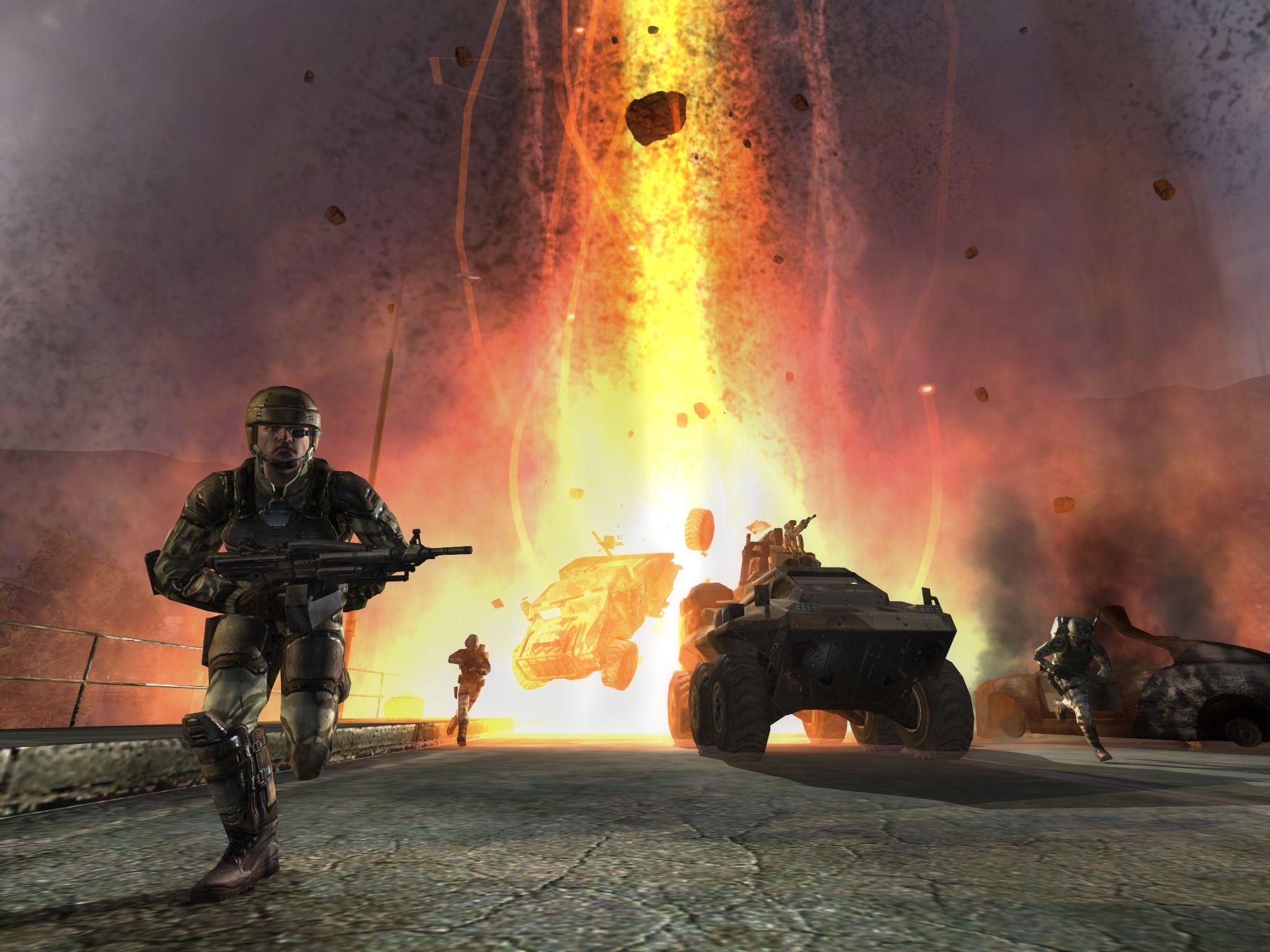 Skjermbilde fra Enemy Territory: Quake Wars Klikk for større bilde