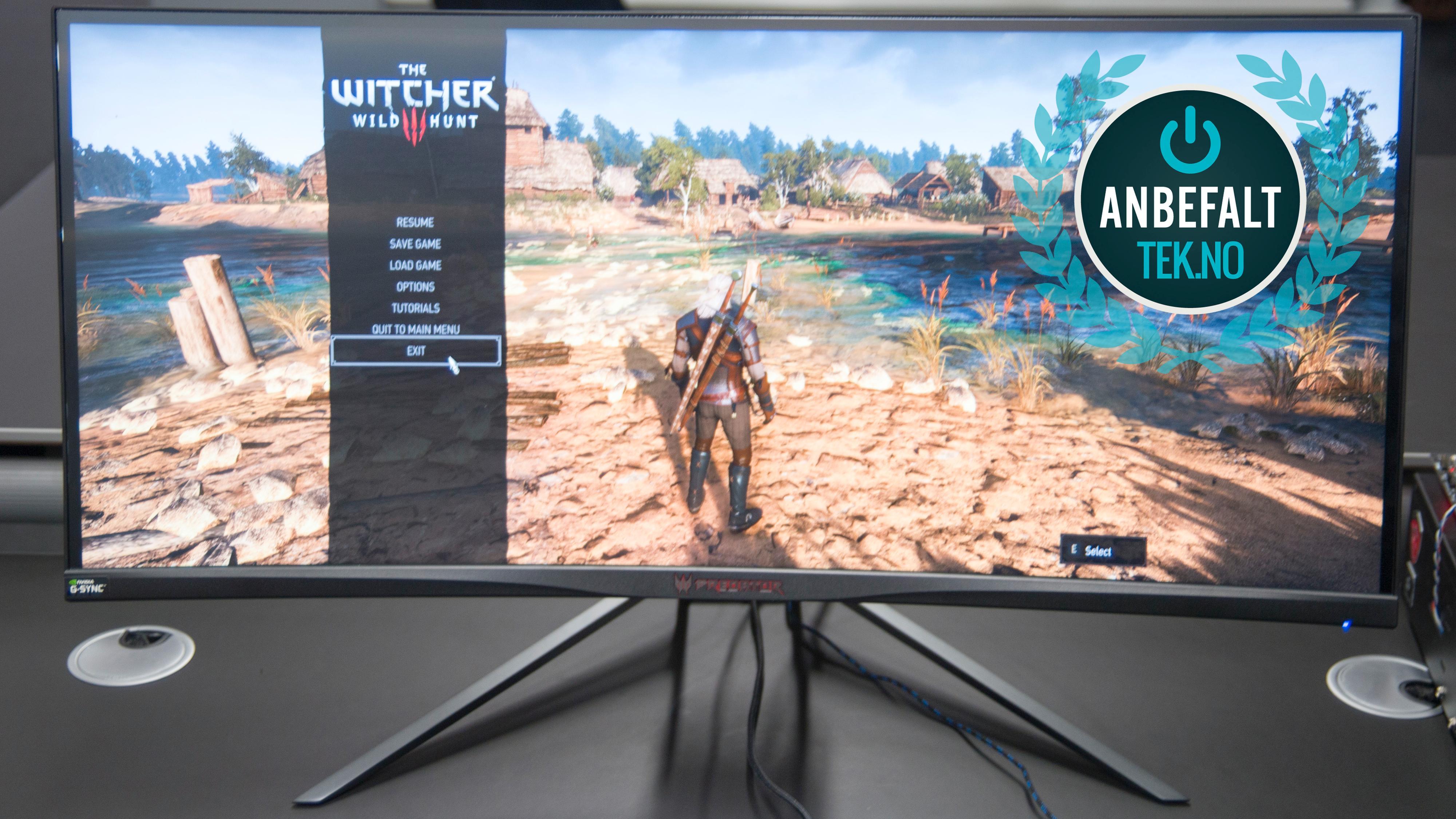 Acer Predator X34P får et Anbefalt-stempel i vår bok.