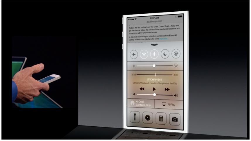 Kontrollsenteret gir deg flere nyttige snarveier.Foto: Apple