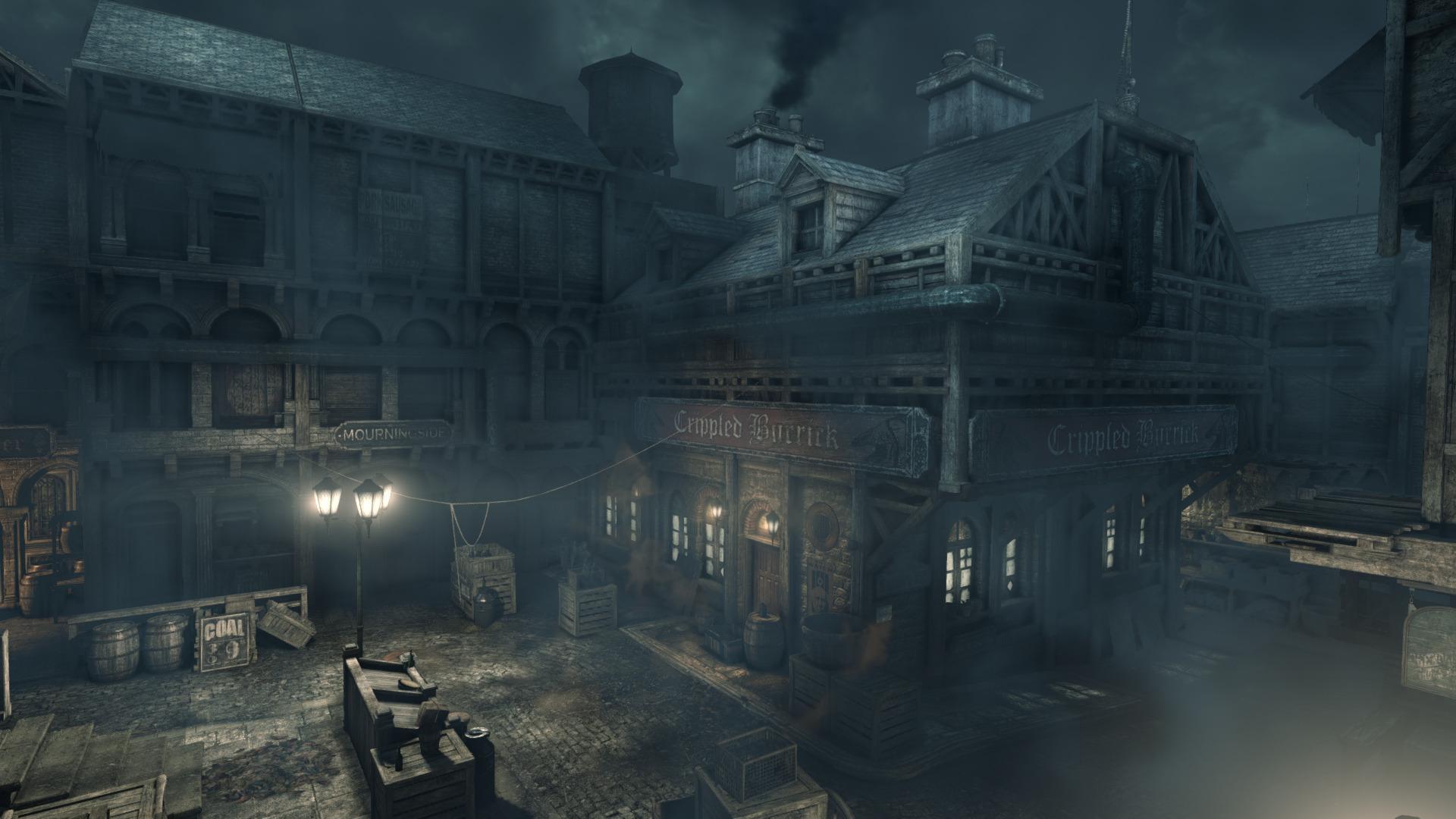 Thief er et av spillene vi ser på, og preges av sniking, mørke kulisser og en seriøs tone.