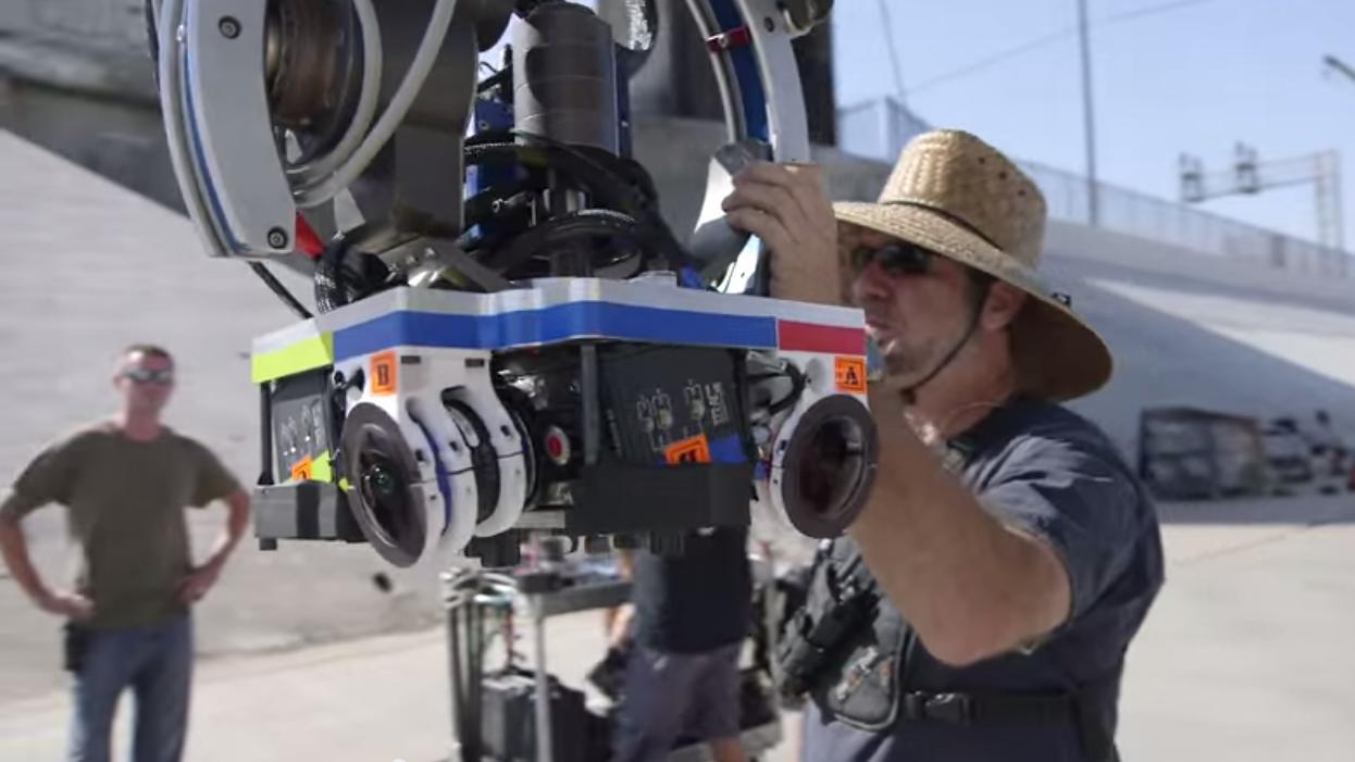 Dette er kamerariggen som ble brukt i produksjonen av filmen. Foto: The Mill/YouTube