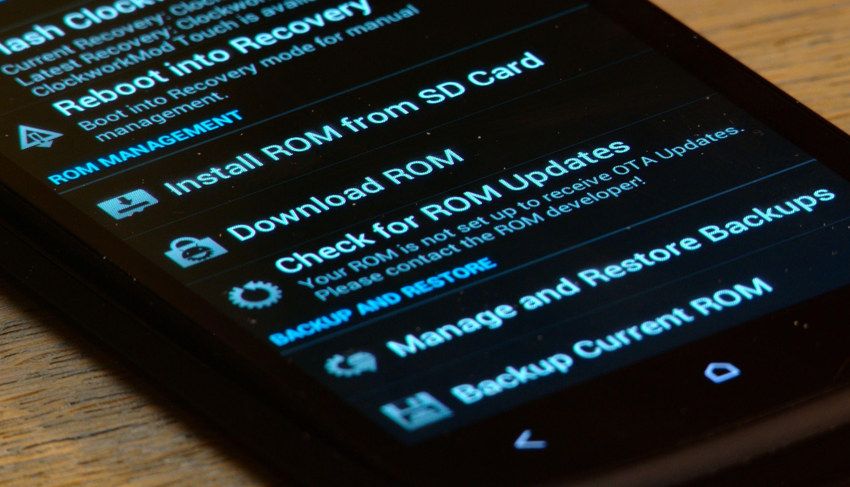 Å installere en ny ROM kan sammenlignes med å installere et nytt operativsystem. Foto: Einar Eriksen