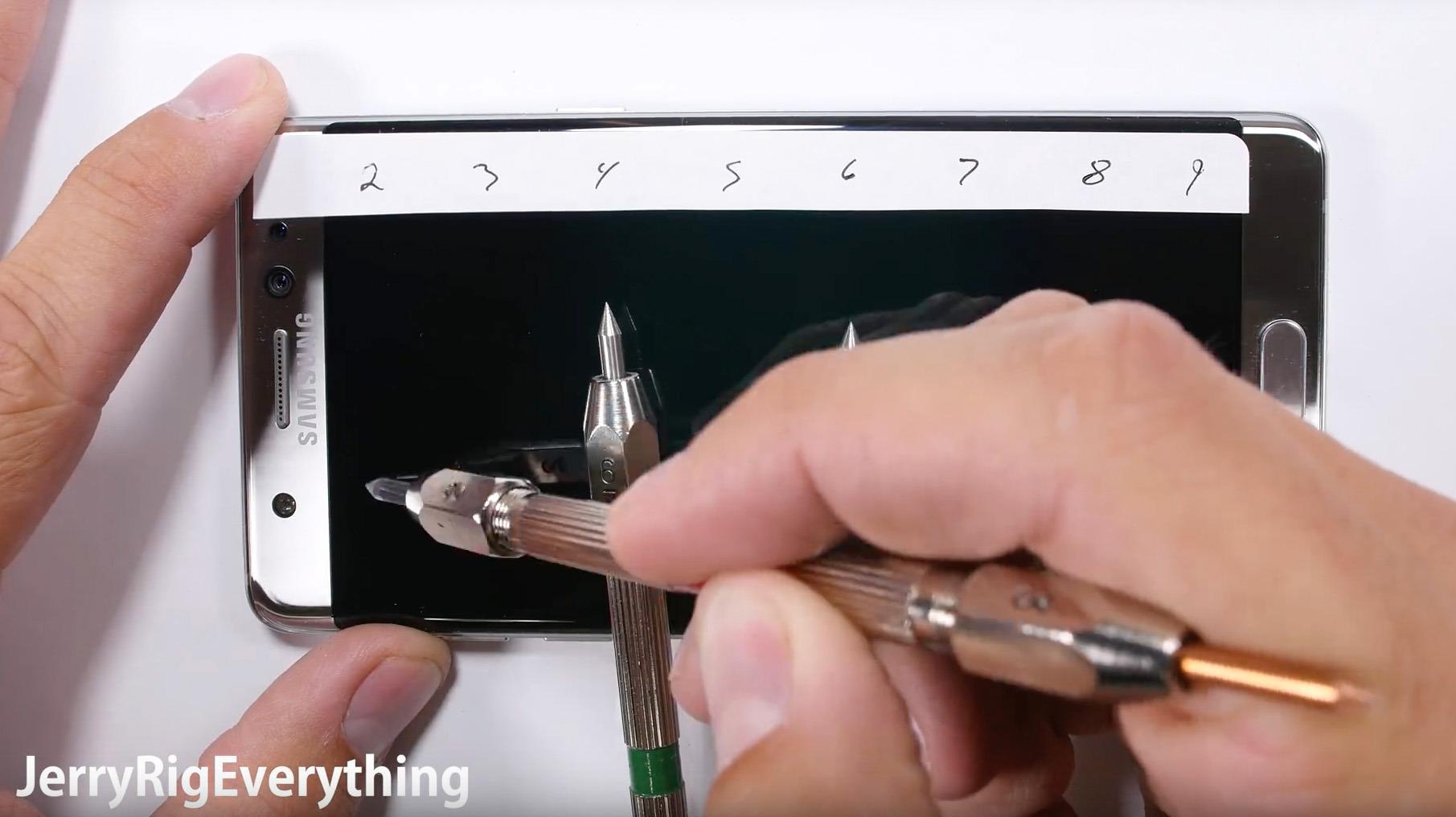 Mineralog bekrefter at YouTube-video ikke viser at Galaxy Note 7 lett lar seg ripe
