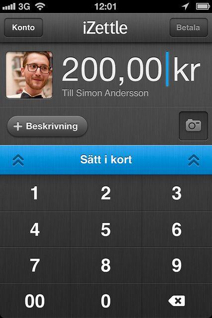 Slik ser det ut når du skal betale med kort på mobilen.
