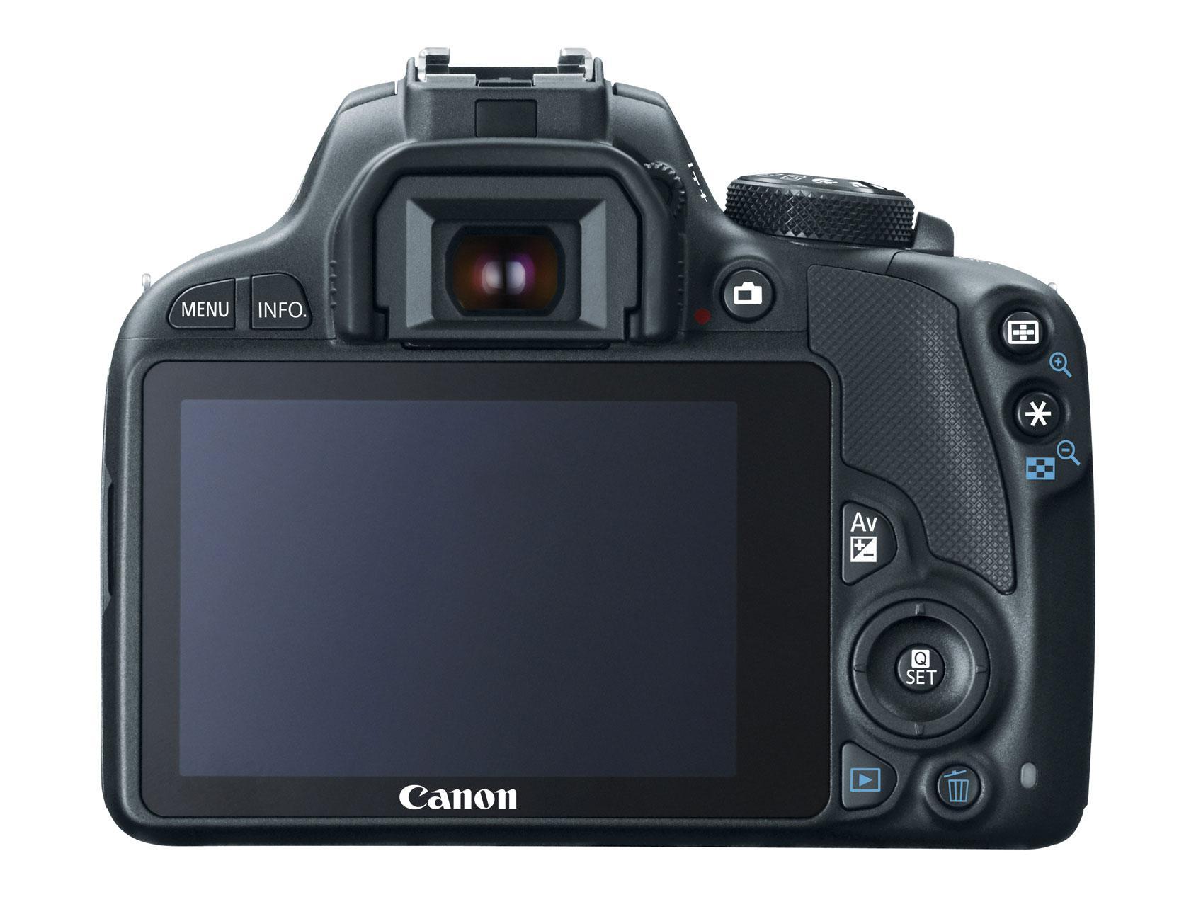 Canon EOS 100D viser oss ryggen - øh, skjermen.Foto: Canon