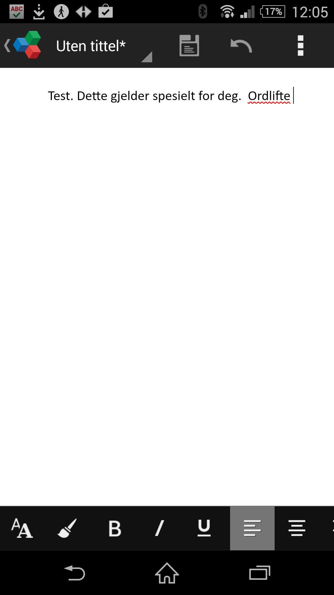 Premiumversjonen gir deg stavekontroll i OfficeSuite 7.
