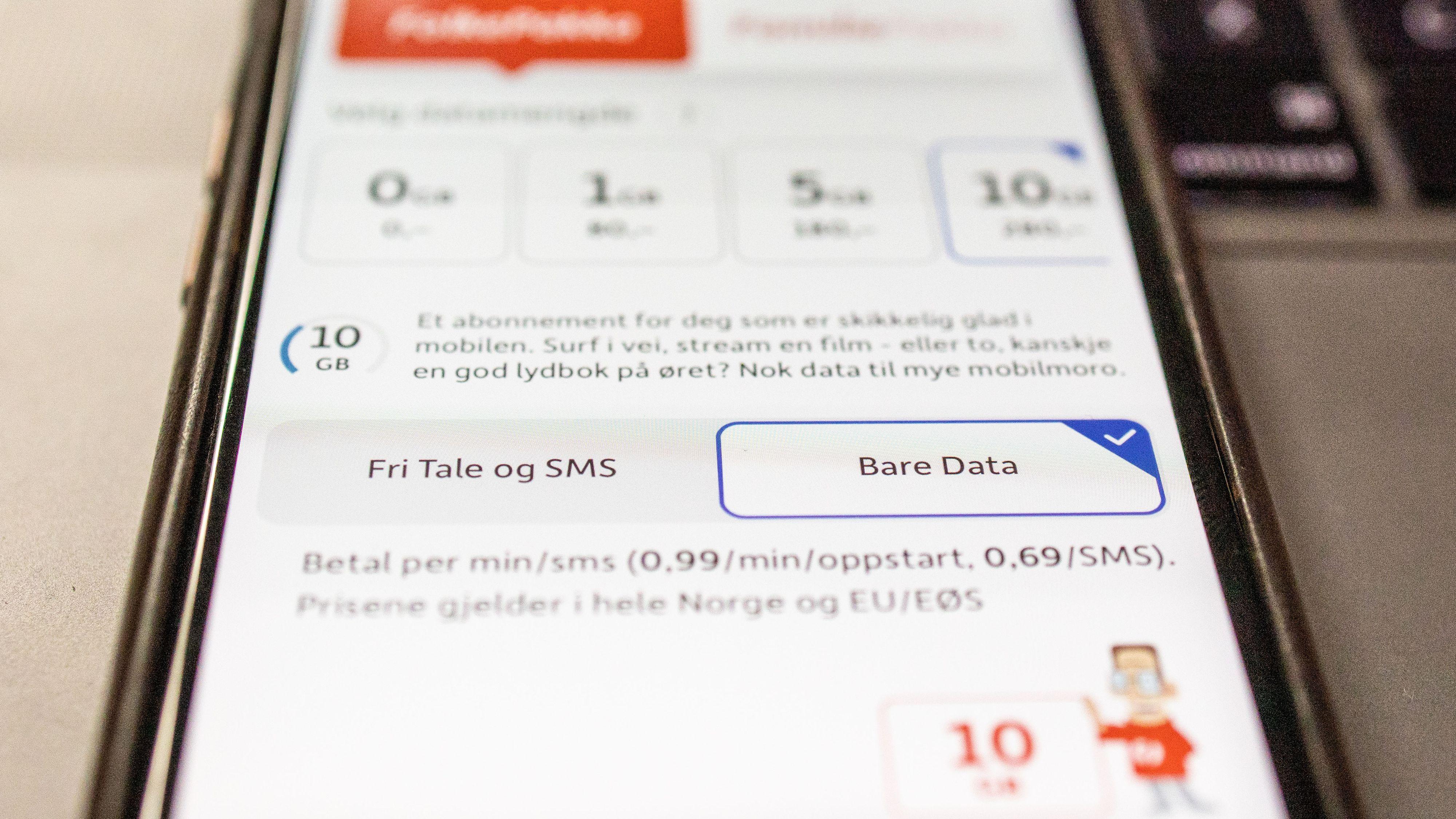 Lanserer mobilabonnement med «bare data»