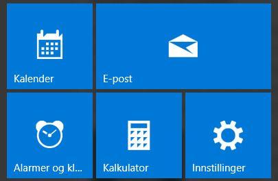Fliser i Start-menyen? Sånt no' hadde vi ikke i Windows 7 ...