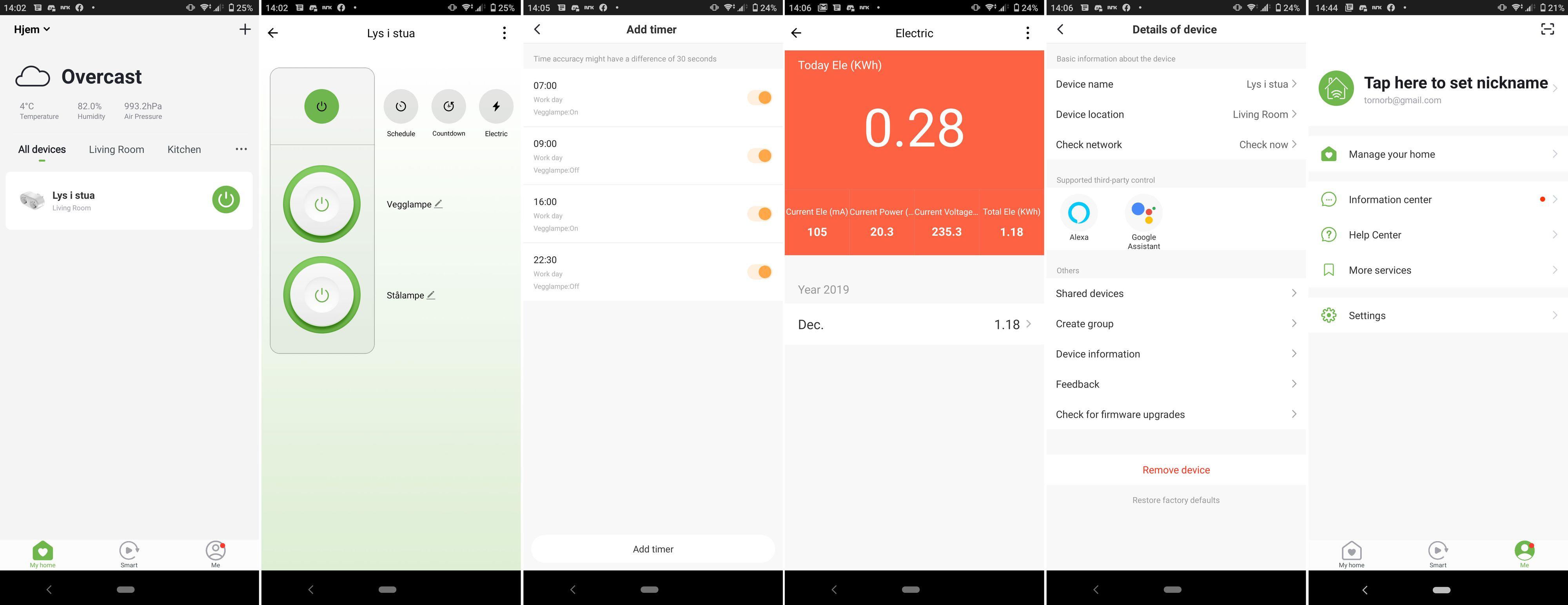 Appens layout og design er pent og rent.