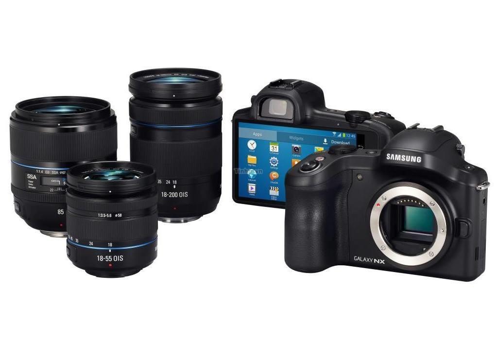Dette skal være offisielle bilder av systemkameraet Samsung Galaxy Camera NX.