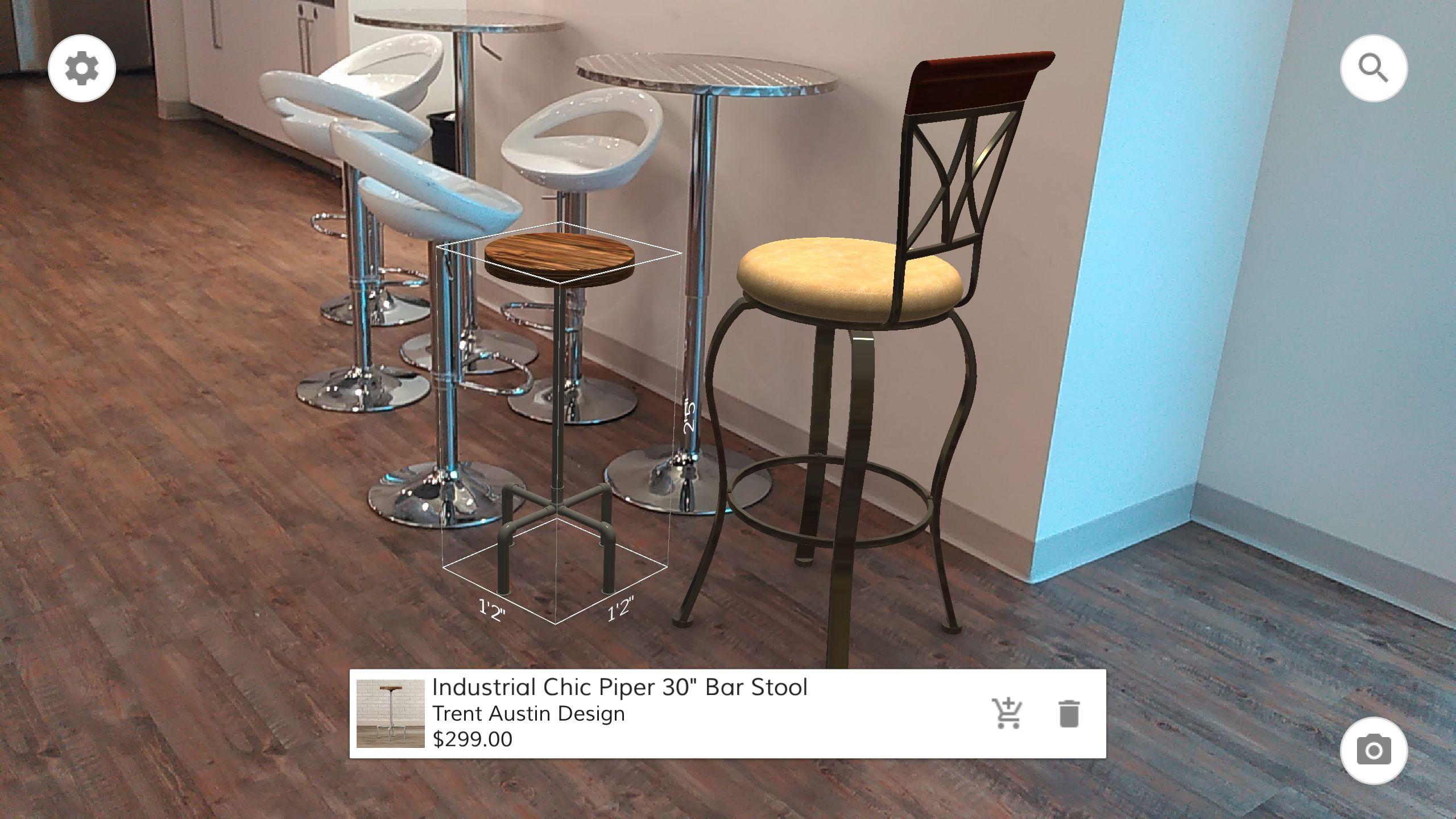 En av mulighetene til Tango-telefonen er å kunne sjekke hvordan ulike møbler tar seg ut i et rom.