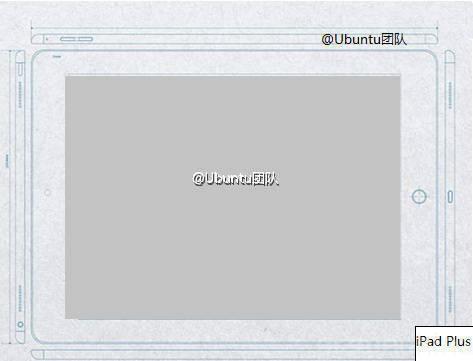 Skisse av iPad Plus? (Foto via Gizmochina)