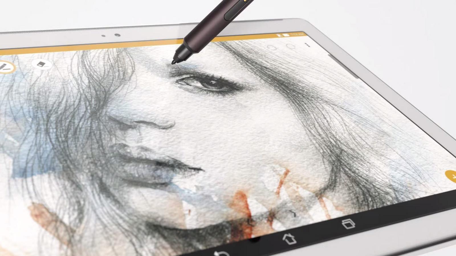 Asus lar deg skrive eller tegne på skjernen med en egen penn som kalles Z Stylus. Denne pennen er ekstrautstyr. Foto: Skjermdump, Tek.no