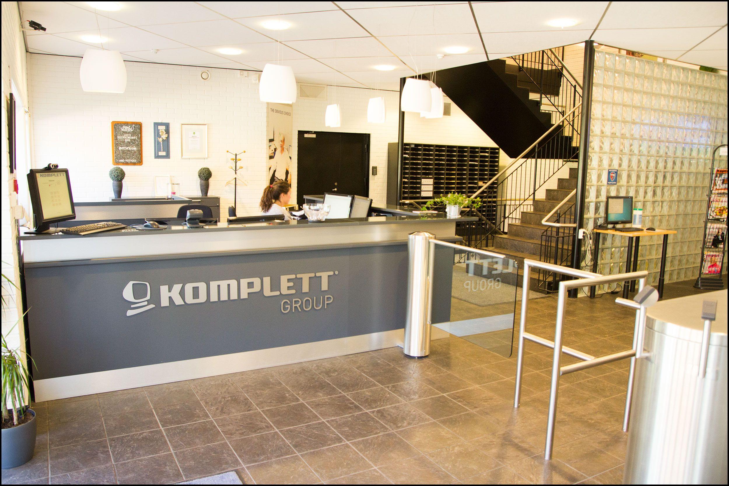 Resepsjonsområdet i Kompletts hovedkontor. Foto: Jørgen Elton Nilsen, Hardware.no