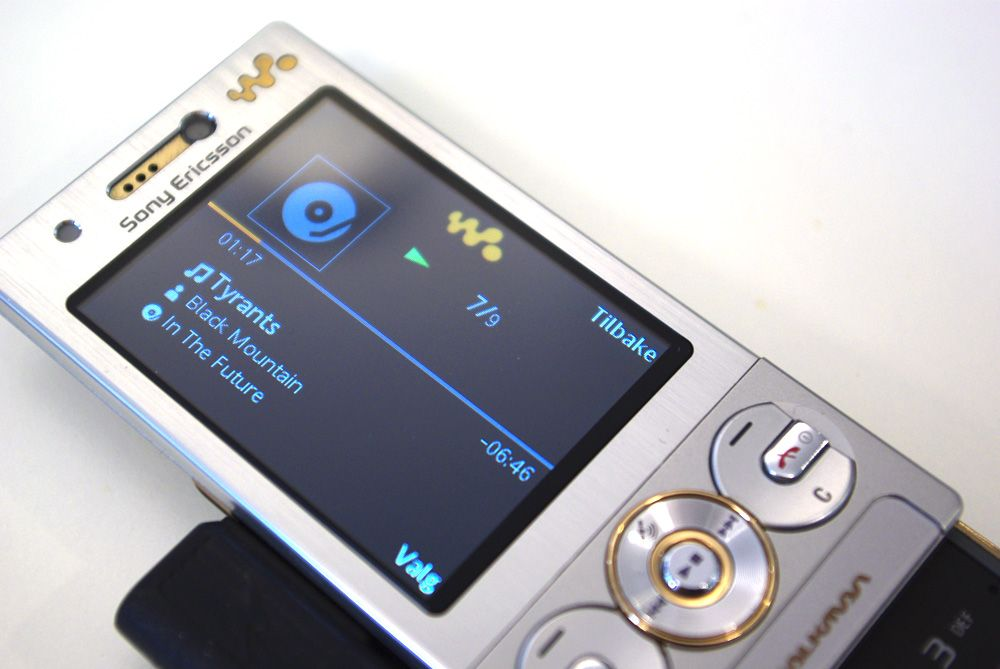 Musikkspilleren er den samme som i andre Walkman-telefoner.
