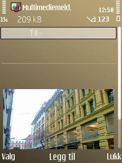 Bildemeldinger kan ha opp til 1000 tegn pluss bilder, video og lydklipp. Du kan også skrive inn et emne.