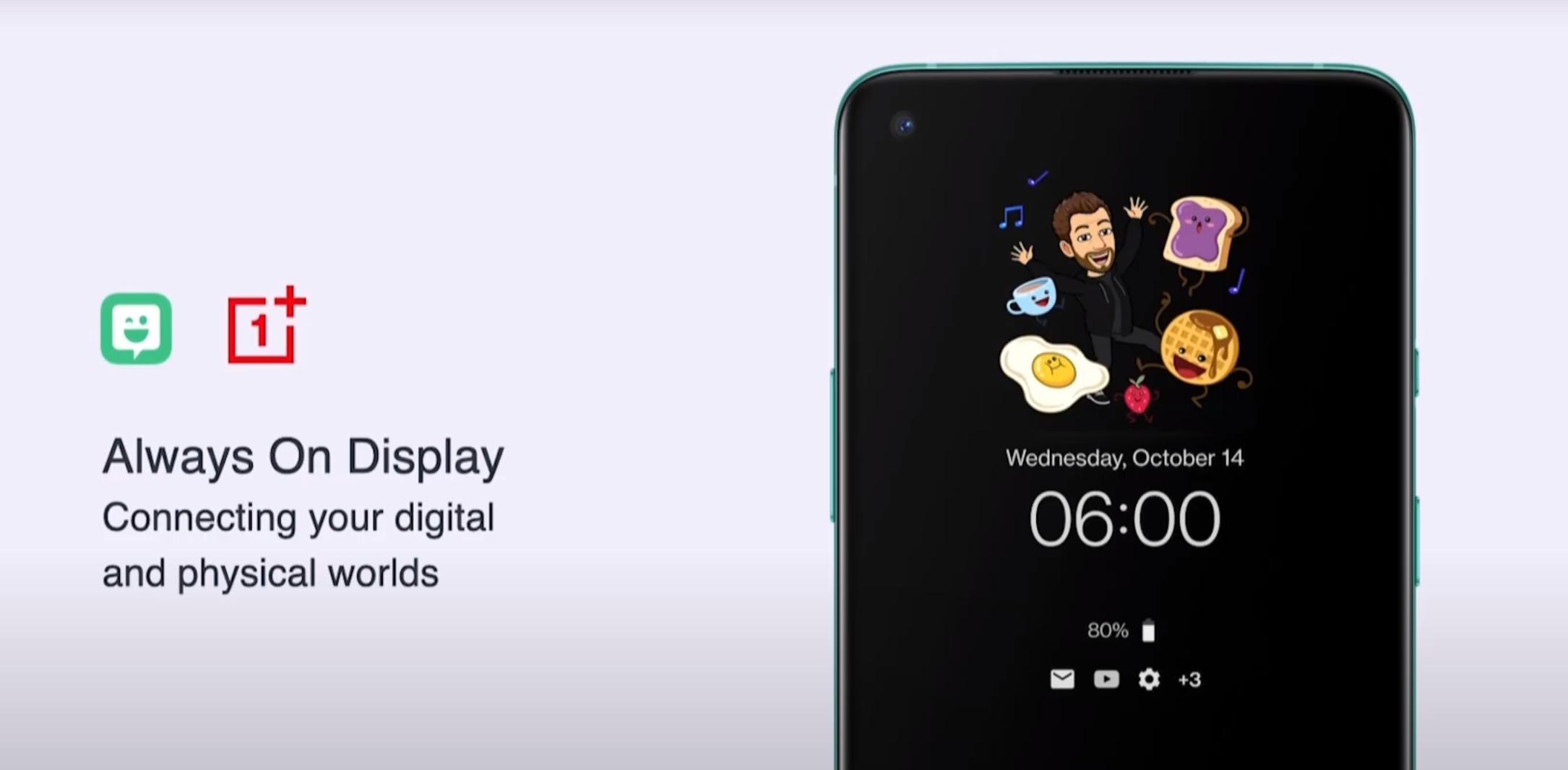 Bitmoji har et samarbeid med OnePlus.