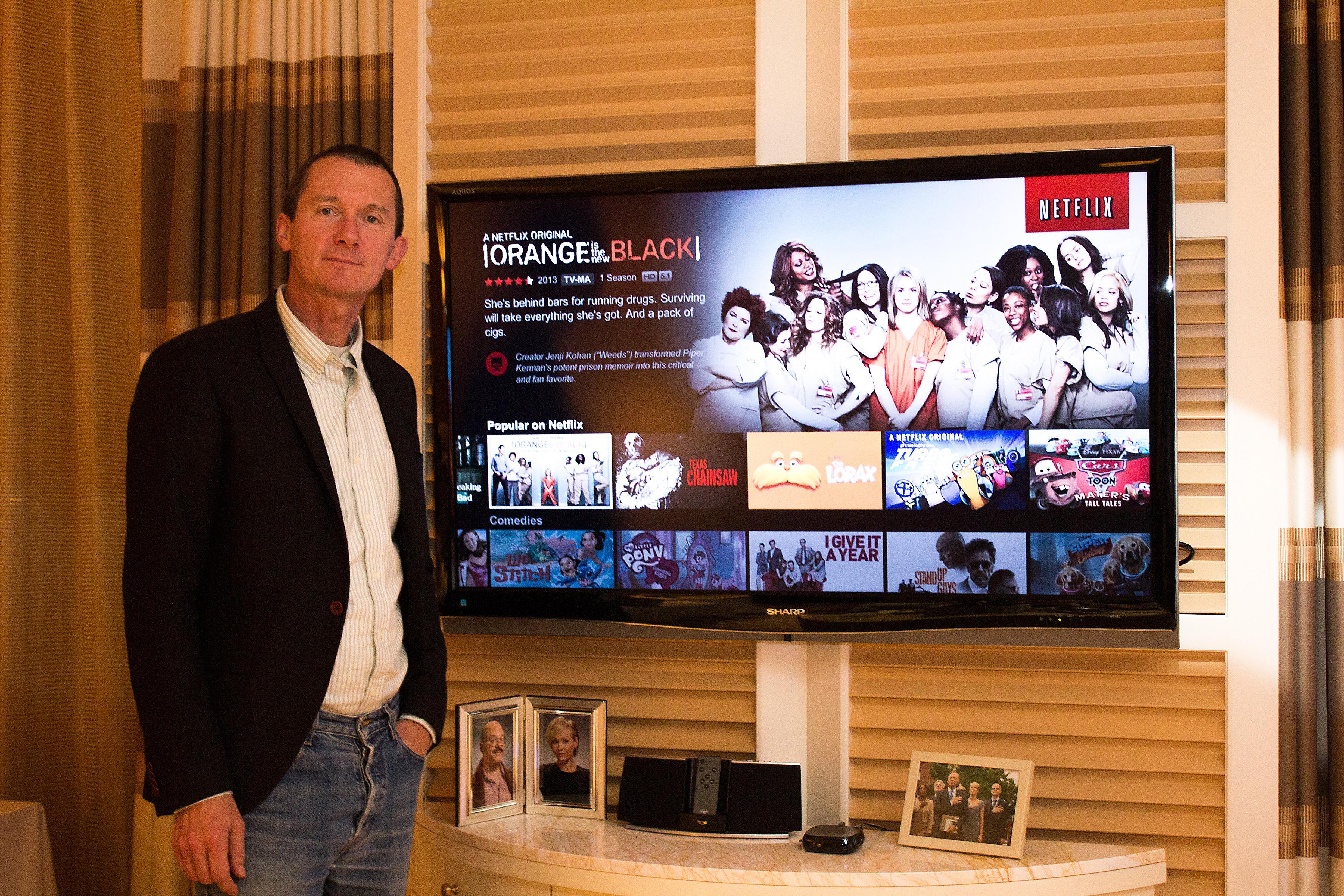 Neil Hunt, Netflix' tekniske produktdirektør, fortalte oss at de vil bli førstevalget for 4K-innhold. Enn så lenge er piratene større i Europa.Foto: Varg Aamo, Hardware.no