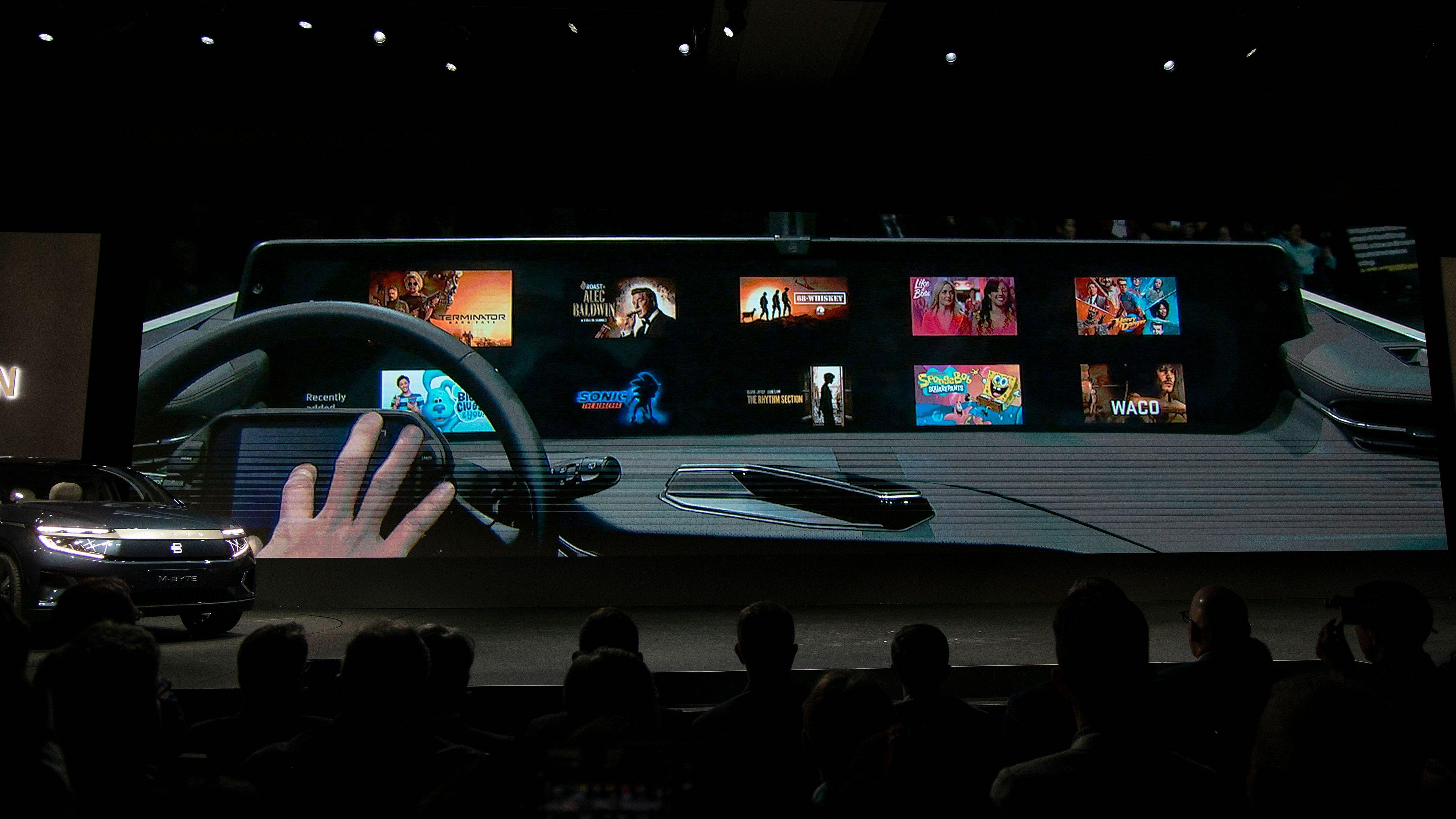 Nå forteller Byton mer om hva vi skal bruke den enorme skjermen deres til