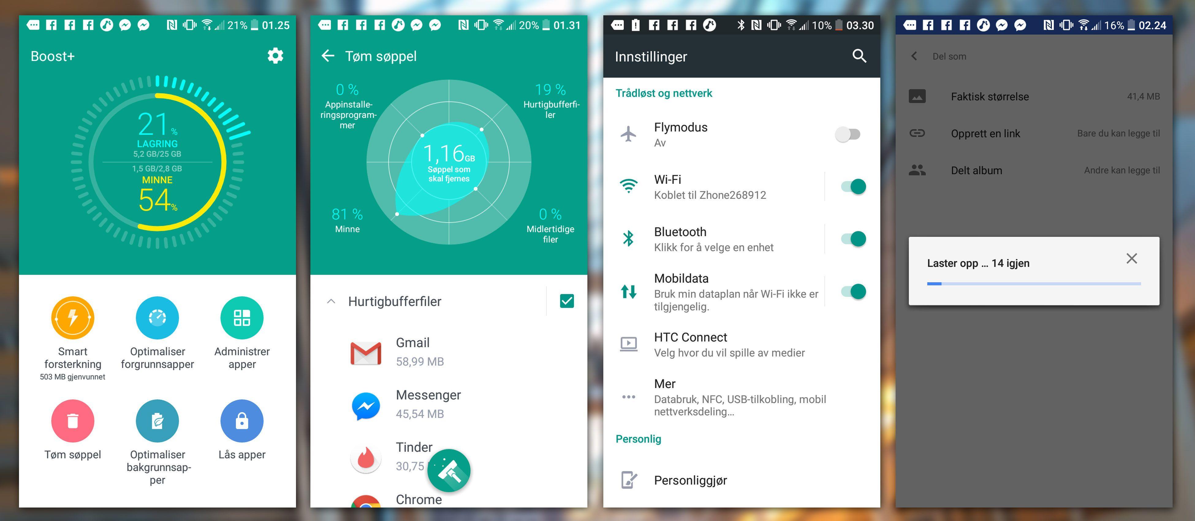 Boost+ er en super app, og vi liker også at du kan dele en link med filer (høyre).