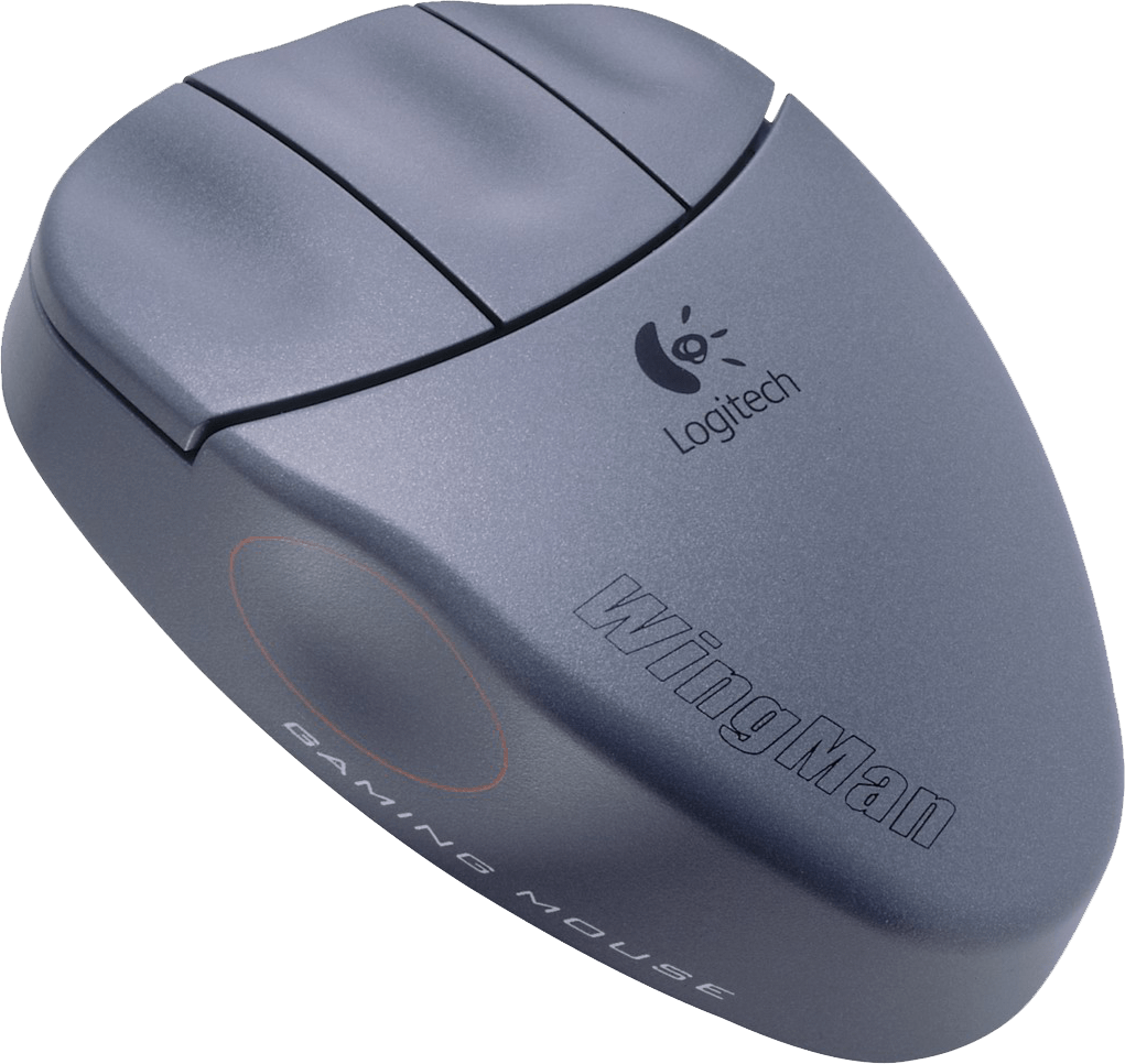 Logitech Wingman Gaming Mouse med sine tre klassiske knapper.Foto: Logitech