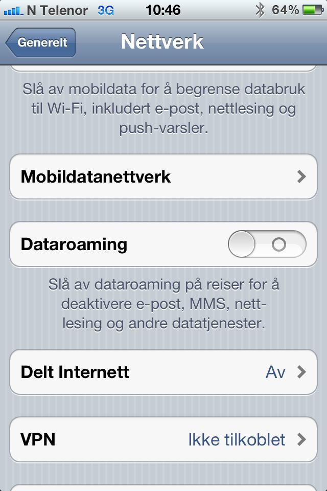 Det er enkelt å dele internett via wi-fi på iPhone.