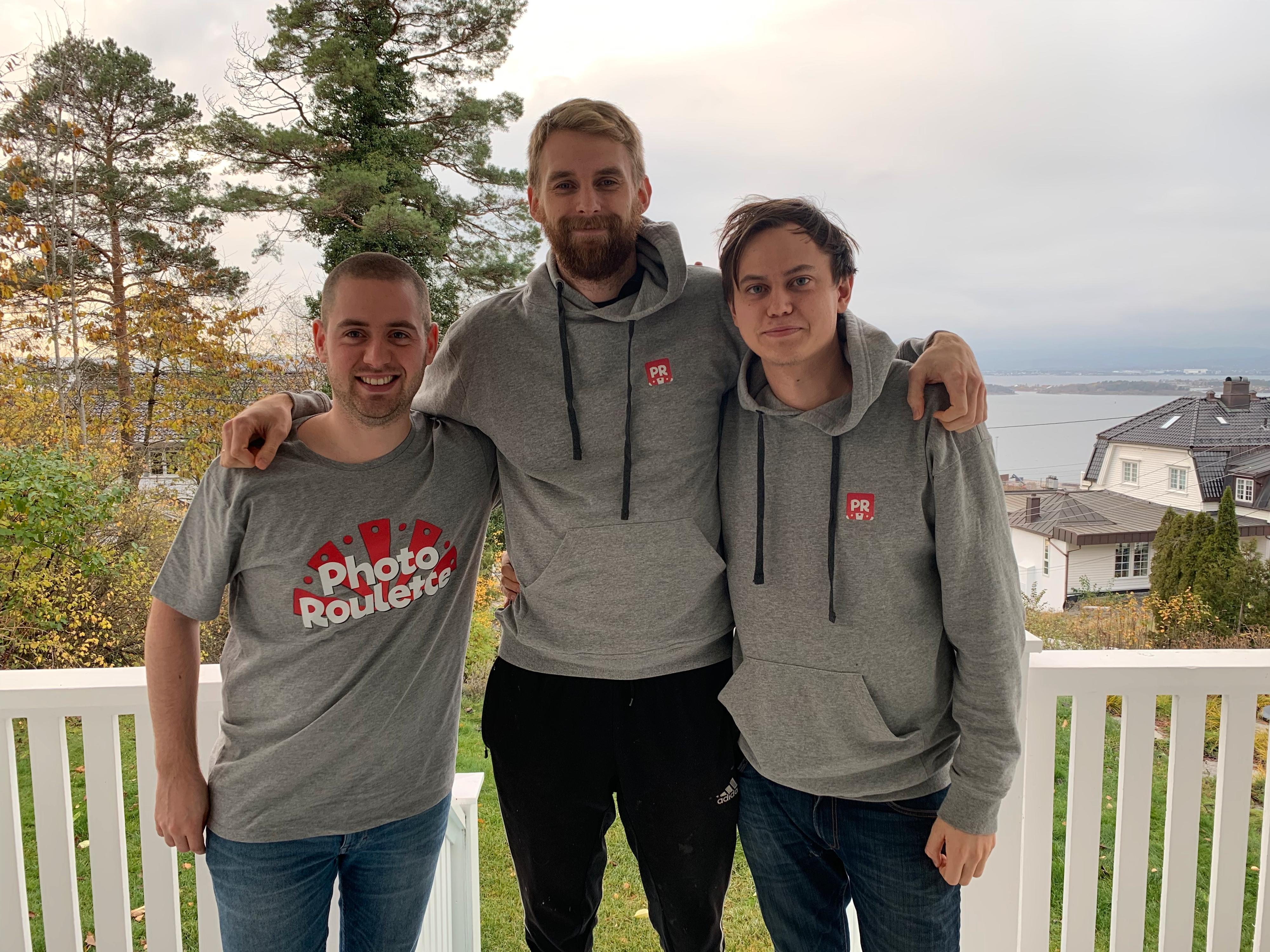 Skaperne av appen. Fra venstre: Magnus Buseth, Thorvald Thorsnes og Henrik Hortemo.
