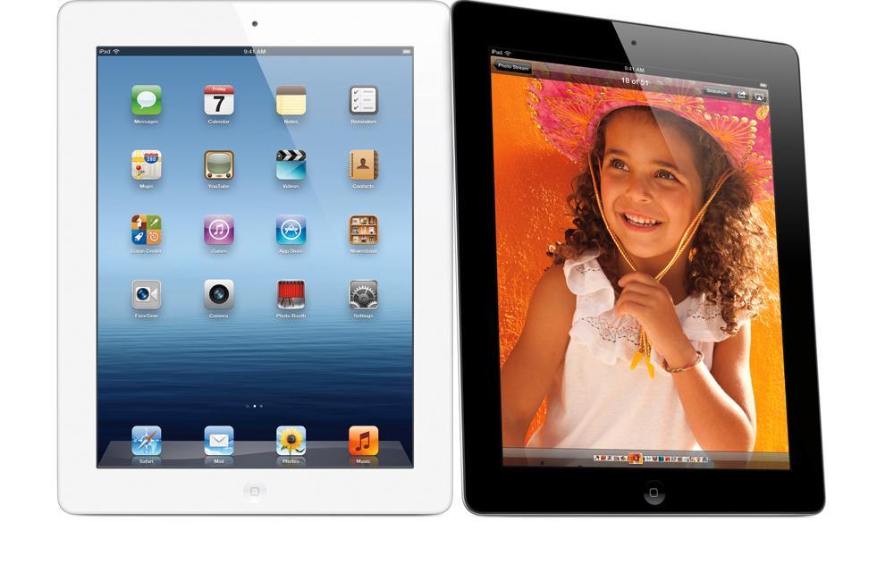 Den nye iPad-en vil fortsatt kunne fås i enten svart eller hvitt.
