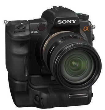 Sony Alpha A700 med vertikalgrep