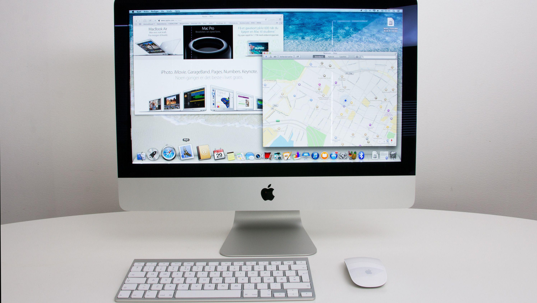 iMac med medfølgende tastatur og Magic Mouse.Foto: Anders Brattensborg Smedsrud, Hardware.no
