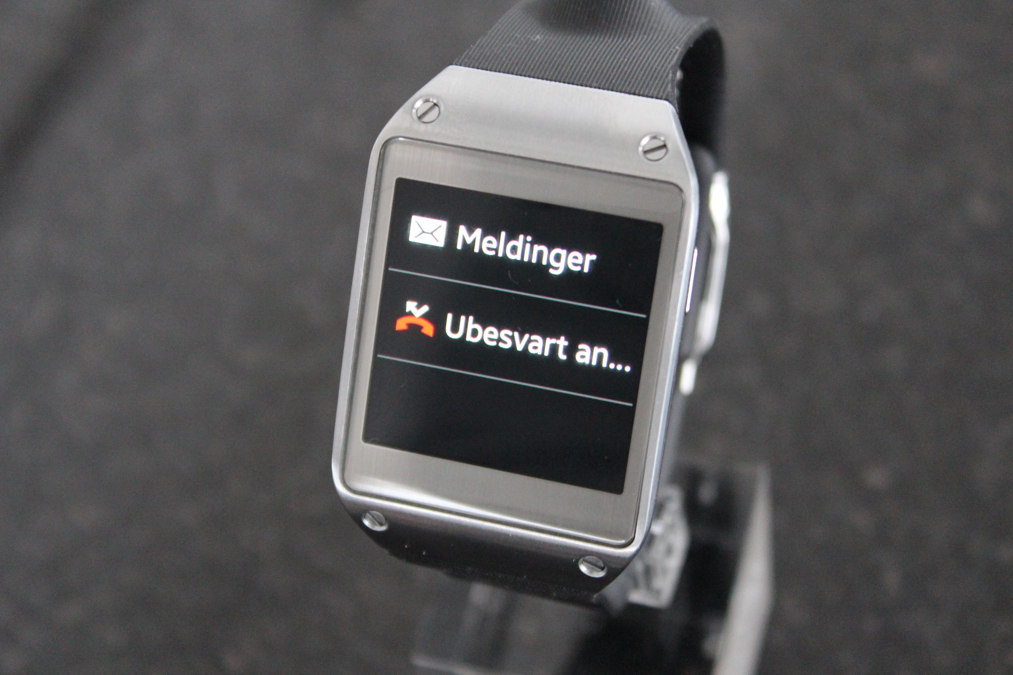 Galaxy Gear kan varsle ulike hendelser.Foto: Espen Irwing Swang, Amobil.no