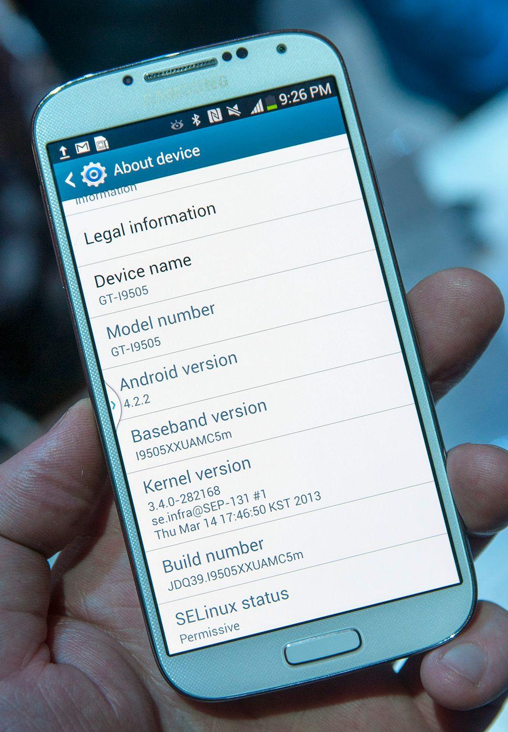 Flaggskipet leveres med Android 4.2.2 Jelly Bean.Foto: Finn Jarle Kvalheim, Amobil.no