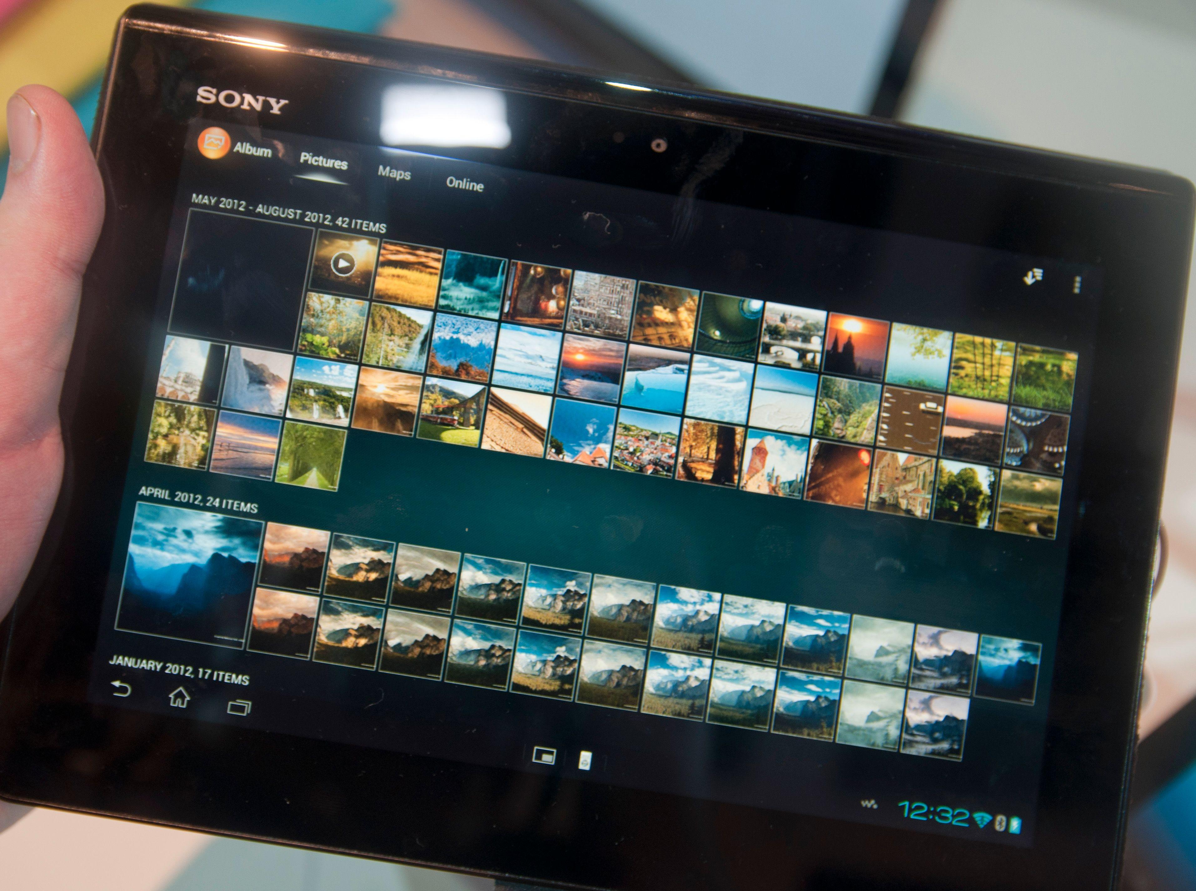 Sony har laget sin egen galleriapp.Foto: Finn Jarle Kvalheim, Amobil.no