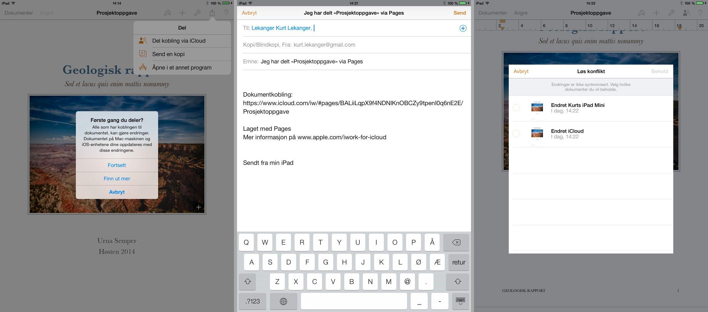 I slutten av 2013 ble iWork gratis å laste ned på nye iOS-dingser. Tidligere samme år ble Microsoft Office sluppet for Apples mobilplattform.