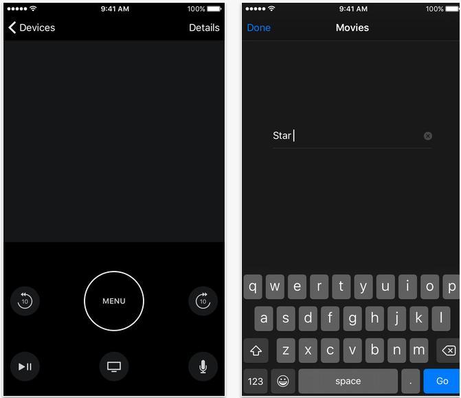 Apple TV Remote-appen har blant annet fått full pekeplate-støtte.
