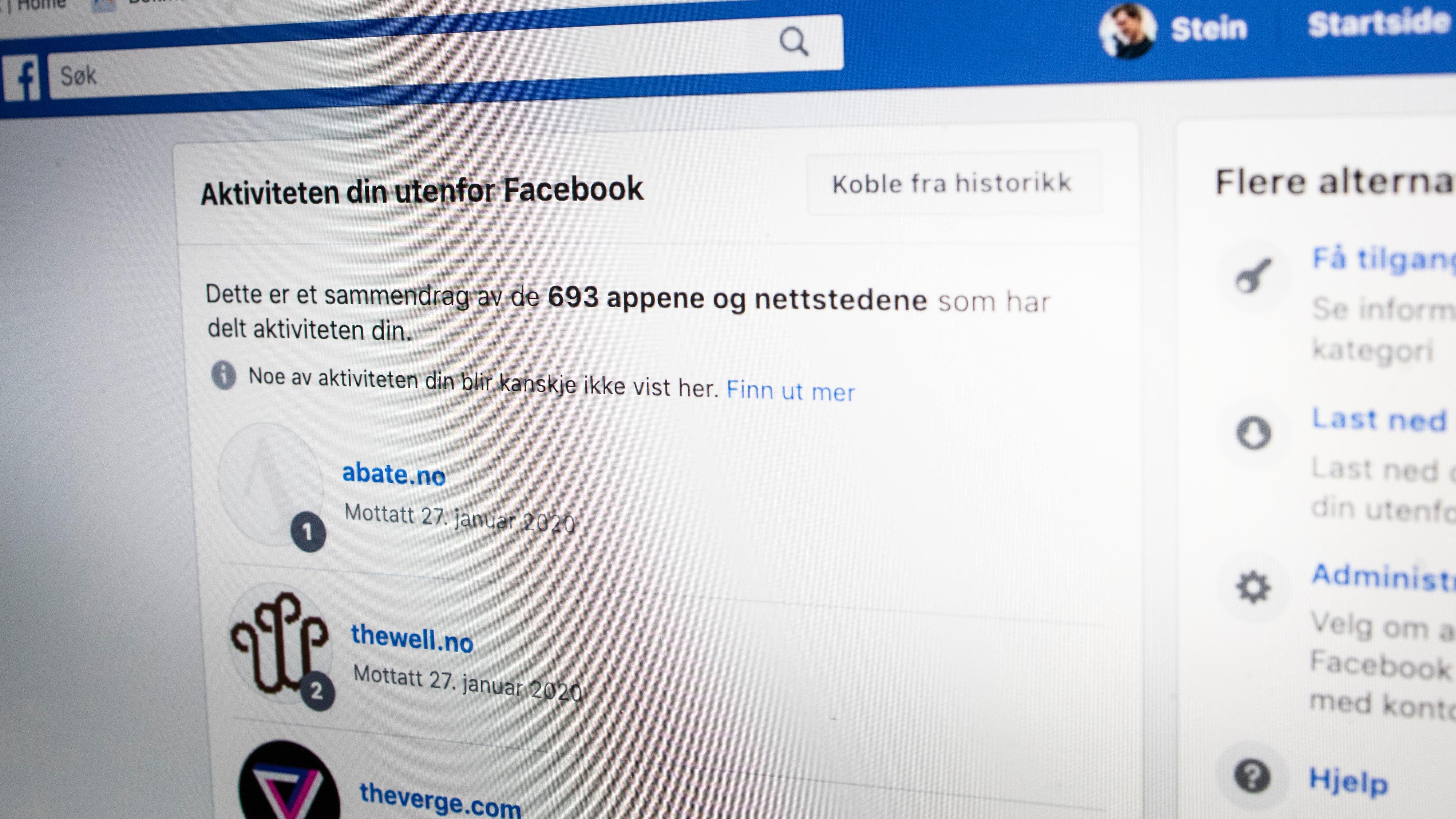 Facebooks nye oversikt over «Aktivitet utenfor Facebook» gir et ganske skremmende innsyn i hvor mye data som sirkulerer om aktiviteten vår på nett.
