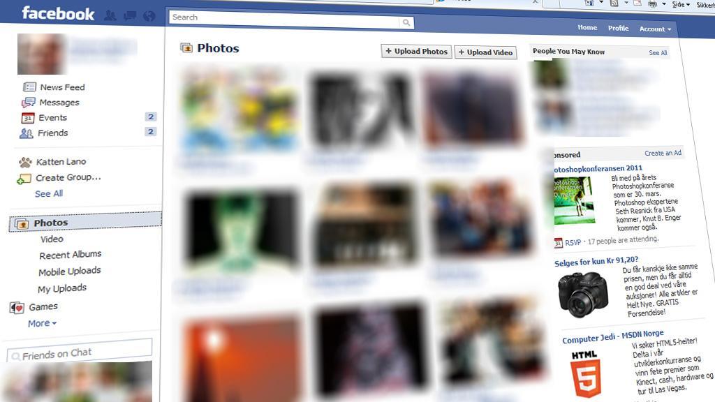 Private Facebook-bilder havnet på pornoside