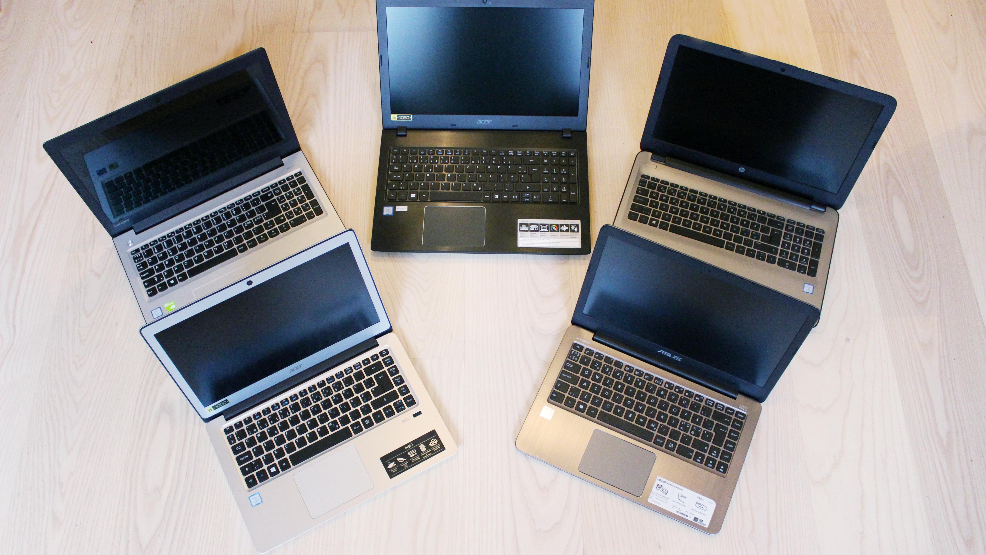 Bærbare PC-er til rundt 5000 kroner