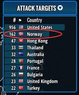 Også Norge har informasjon angripere er på jakt etter.