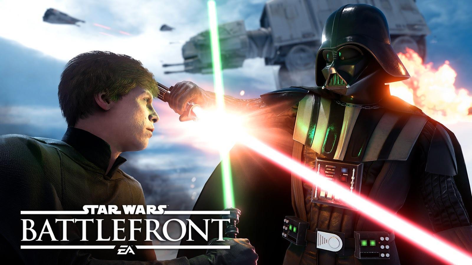 Hva med rødt lys hvis du er Darth, grønt hvis du er Luke? Ikke veldig nyttig, men om ikke annet hadde det jo vært litt gøy. Foto: EA Games