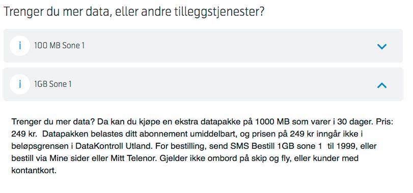 Både Telenor og Telia tilbyr relativt gunstige datapakker når du befinner deg i utlandet, som her hos Telenor i USA.