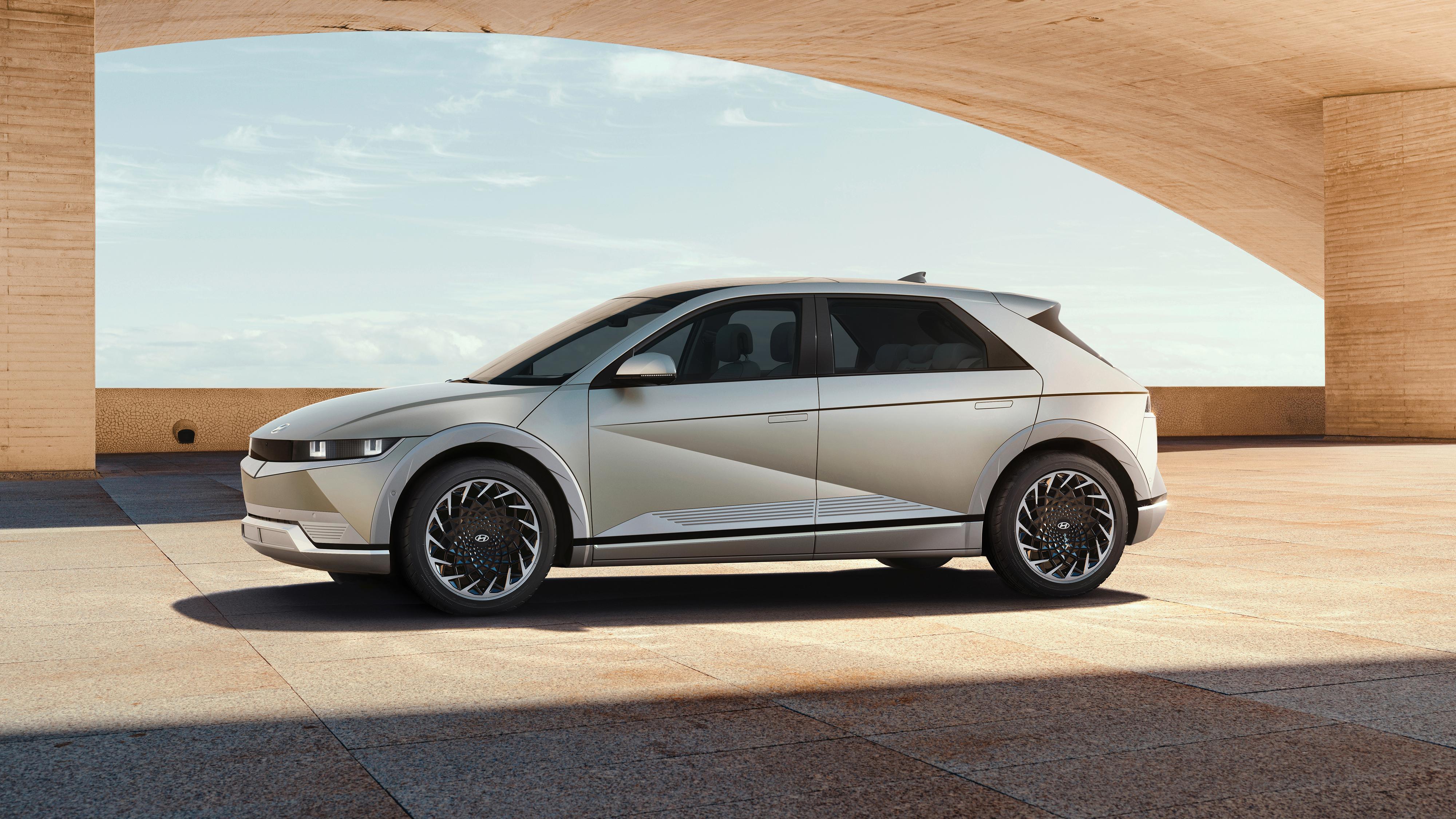 Hyundai har gått for et nærmest hatchback-liknende design på sin Ioniq 5.