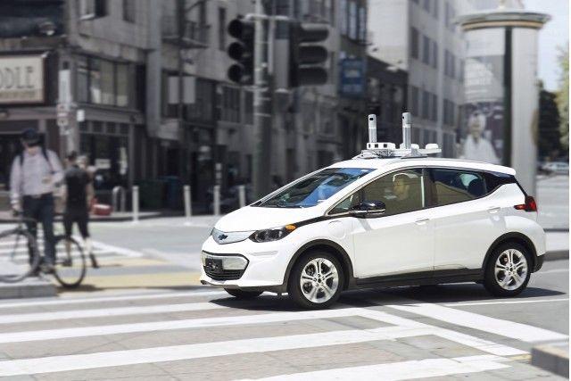 Chevrolet Cruise AV er basert på samme selskaps Bolt EV, som er avbildet her, og kan dermed komme til å bære likhetstrekk med den. (Bilde: Chevrolet)