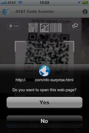 En god QR-kodeskanner bør be deg om bekreftelse før den sender deg til en nettside eller til nedlasting av en app.