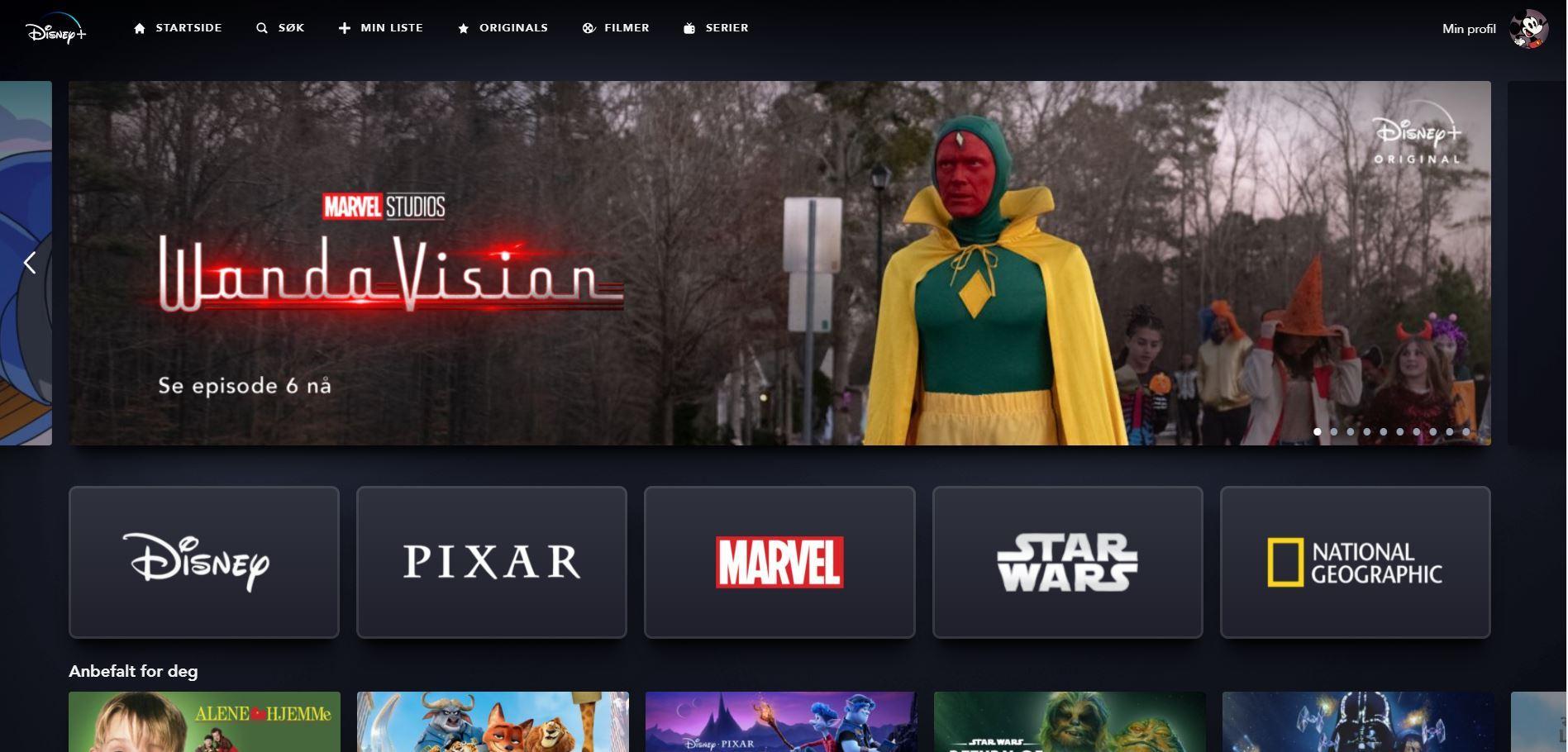 Disney+ stormer frem og nærmer seg 100 millioner brukere