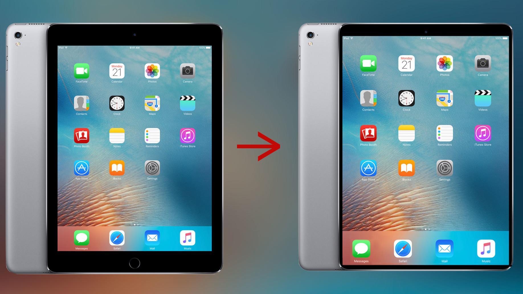 Apple skal trolig lansere en nesten rammeløs iPad denne måneden
