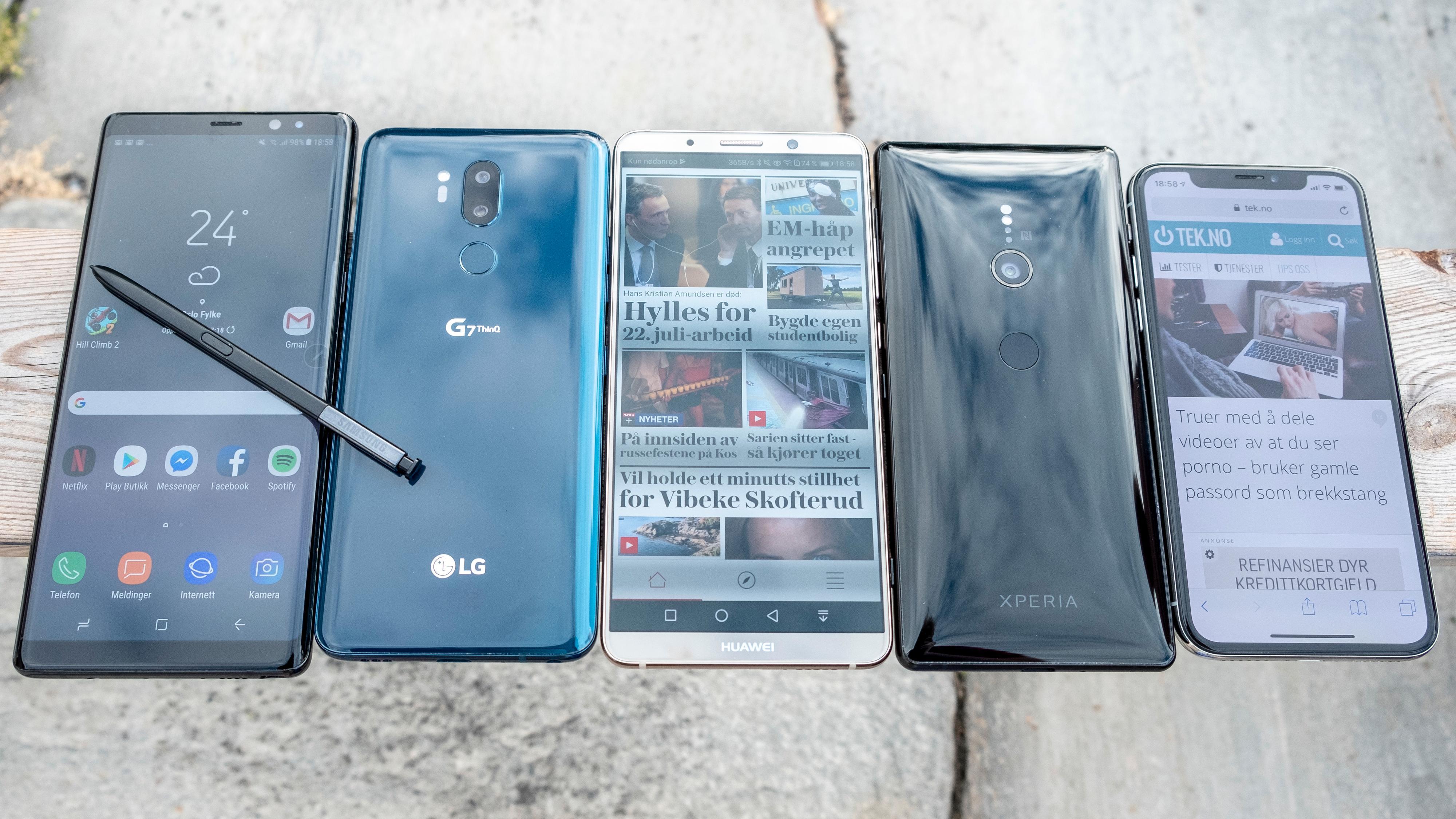 Det er mange om beinet i mobilbransjen, og Huawei puster samsung i nakken.