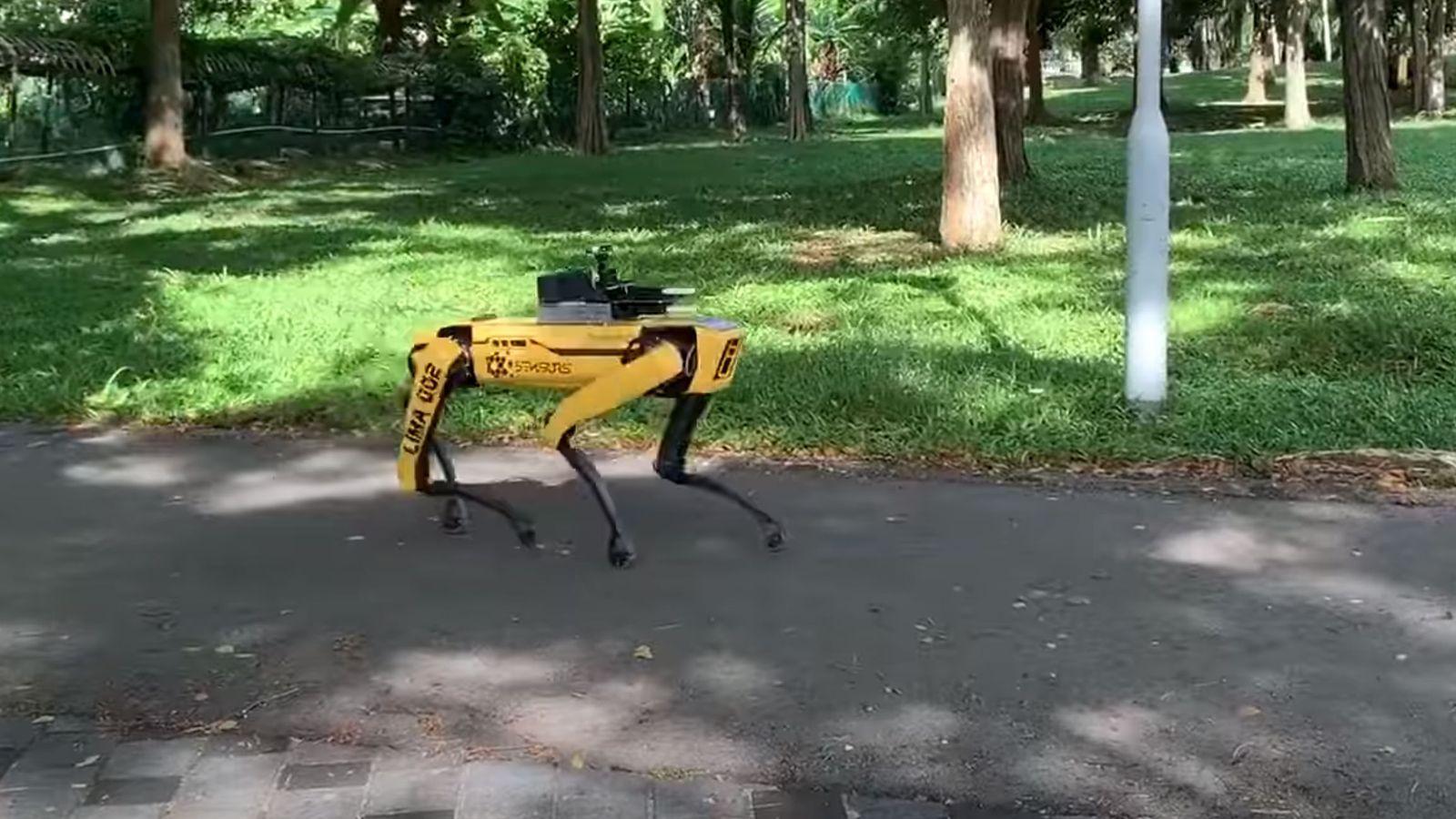 Tidligere i år testet Singapore Spots patruljering som hjelpemiddel for å opprettholde sosial distansering i landets parker.